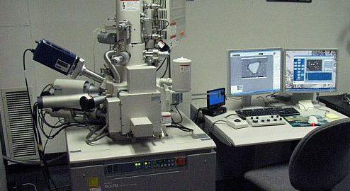 Bir taramalı Elektron Mikroskobu resmi